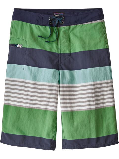Patagonia Boys Wavefarer Boardshorts Fitz Stripe: Succulent Green